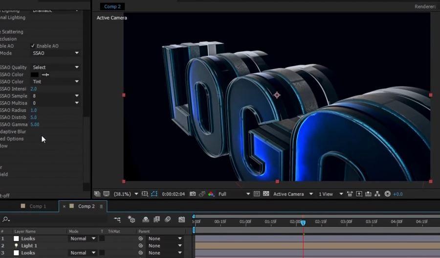 Создание 3d лого в After Effects
