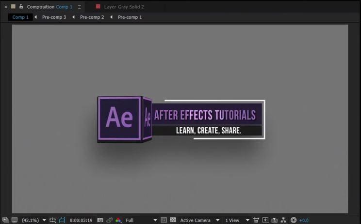 Создание 3D плашек в After Effects
