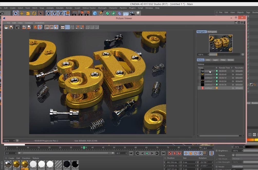 Создание 3D текста в Cinema4D