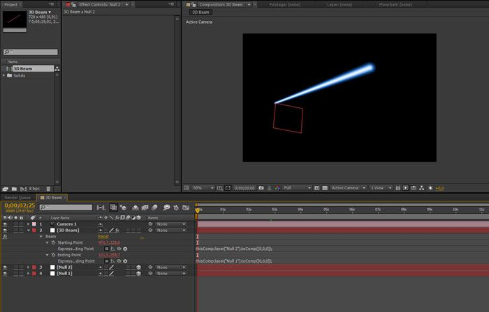 3D линии в After Effects