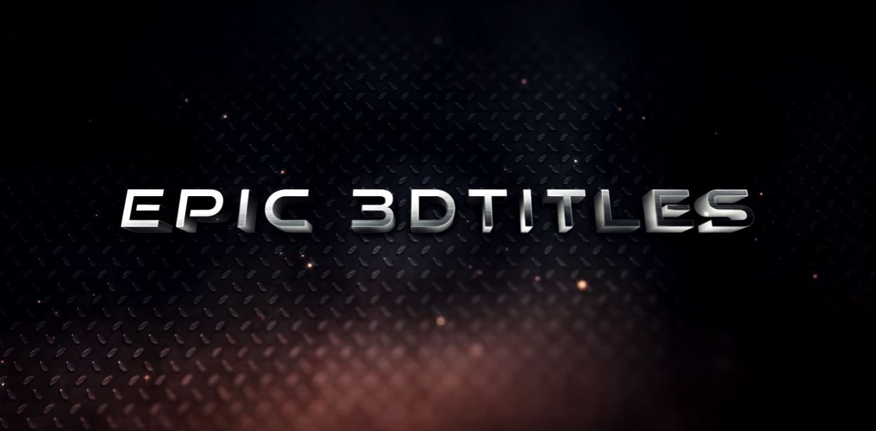 3D Титры в After Effects