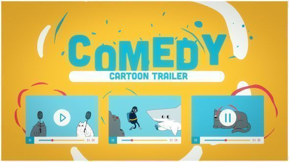 Funny Cartoon Comedy Trailer
