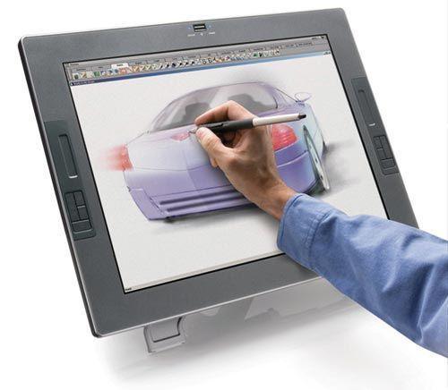 Графический планшет со встроенным монитором
