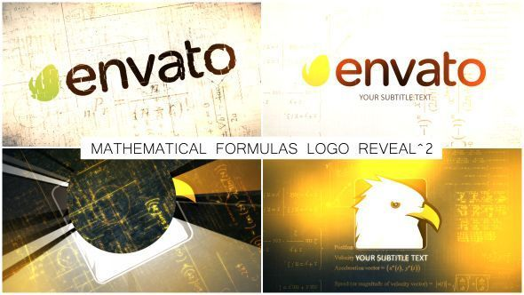 Mathematical Formulas Logo Reveal