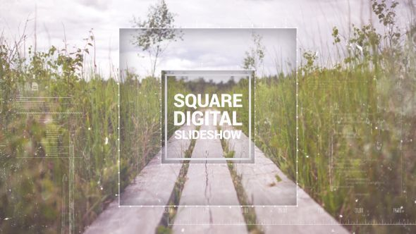 Square Digital Slideshow