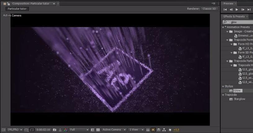 Анимация логотипа с помощью частиц