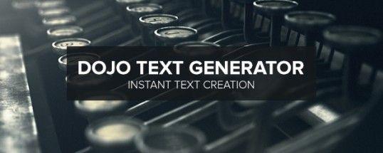 Dojo Text Generator скрипт для АЕ