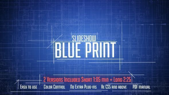 Blue Print Slideshow