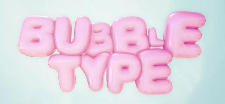 Bubble Type - бесплтаный плагин для C4D