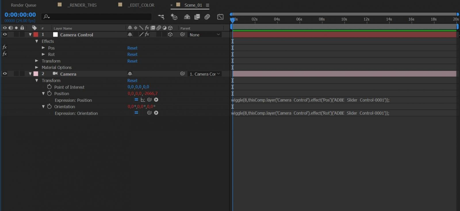 Кнопка для kbar - Camera + null + sliders