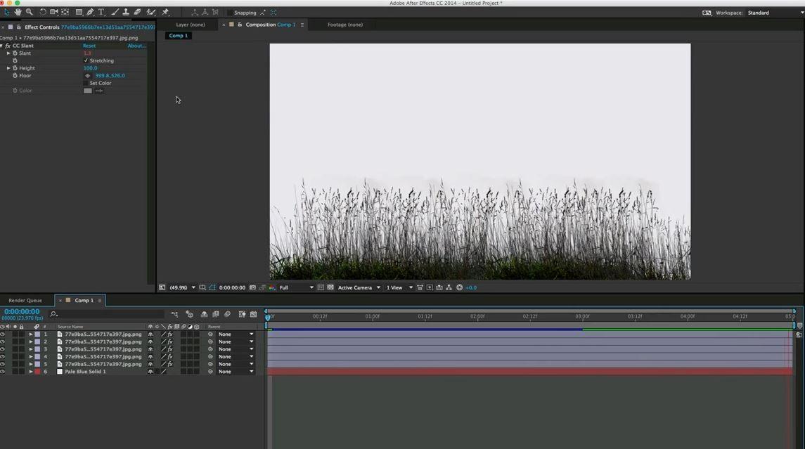 Quick Tip: качающаяся трава