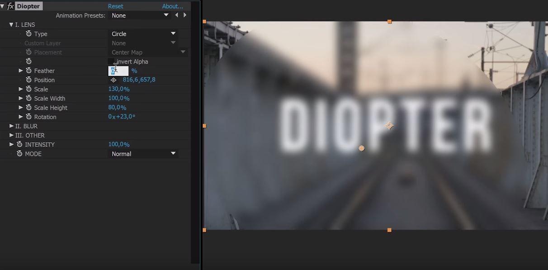 Diopter плагин для художественного боке