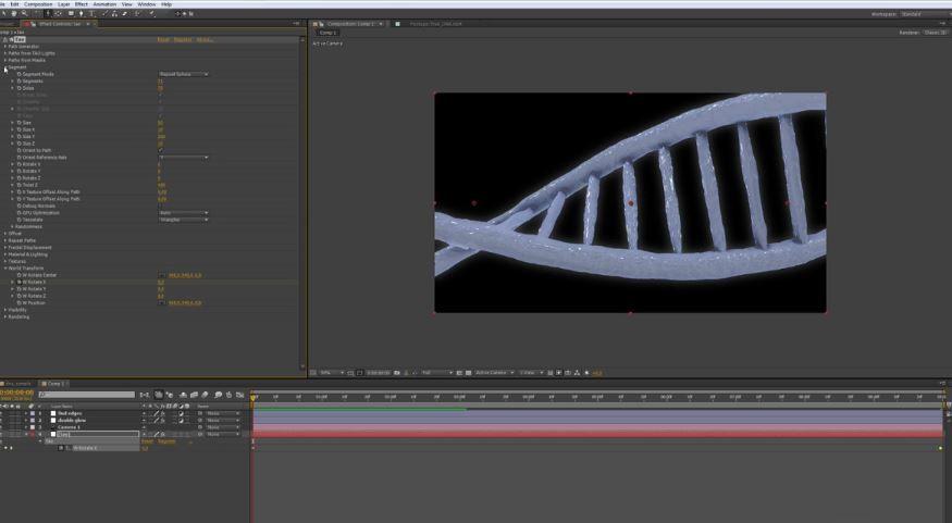 Создание DNA с помощью Trapcode TAO