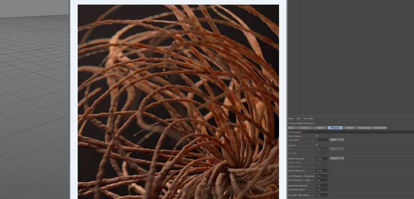 Рендер в C4D с dof и хром. аберрациями