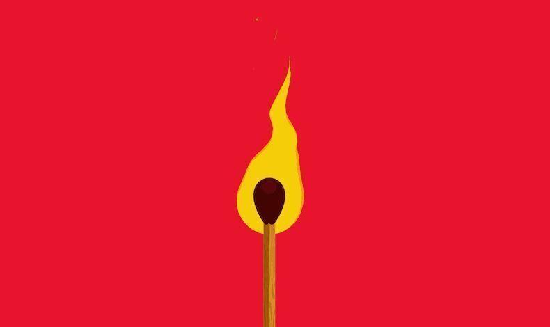 2D огонь в C4D