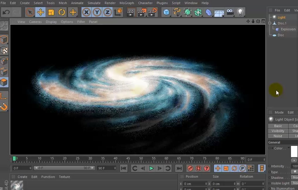 Создание простой галактики в Cinema4D