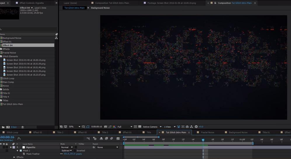 Создание глитч эффектов в After Effects