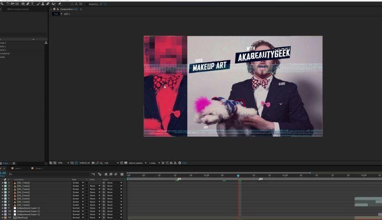 Создание трендовых глитчей в видео