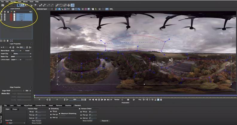 Мока - стабилизация горизонта в видео