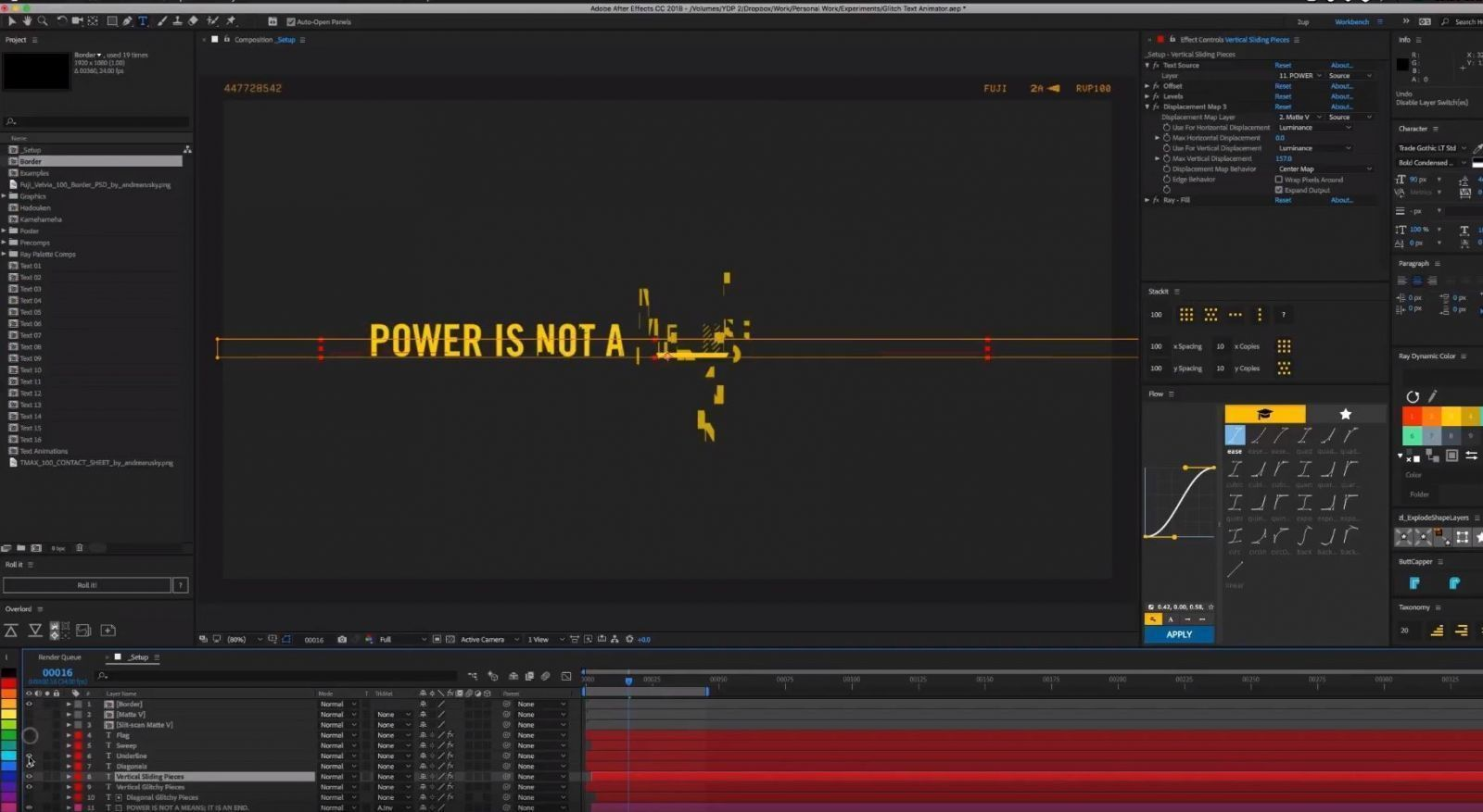 Анимация текста в After Effects