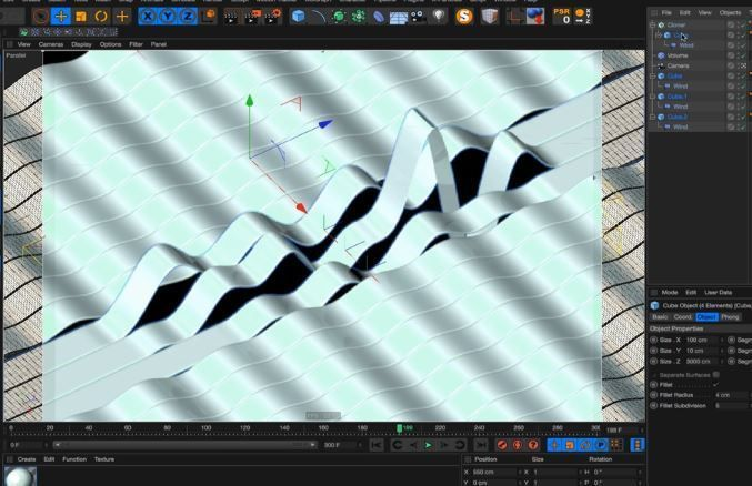 Создание радужного материала в Cinema 4D