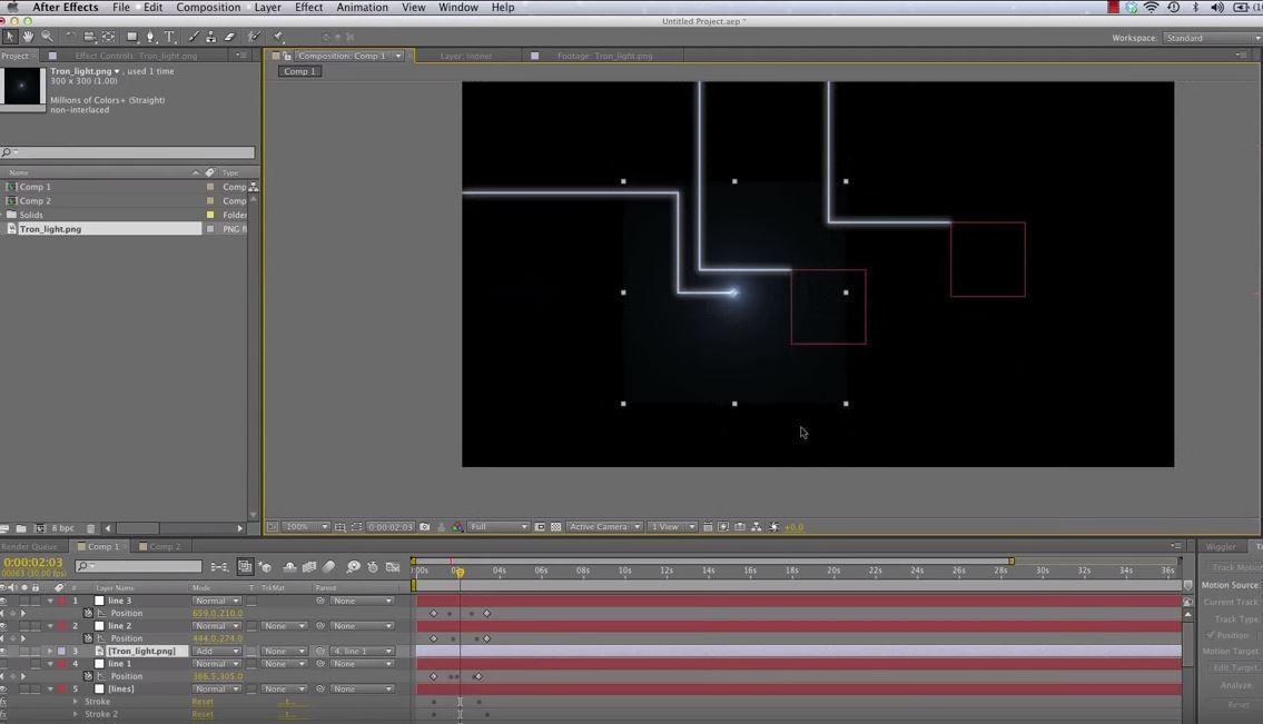 Анимация светящихся линий в АЕ