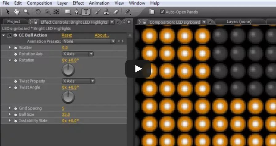 LED подсветка в After Effects