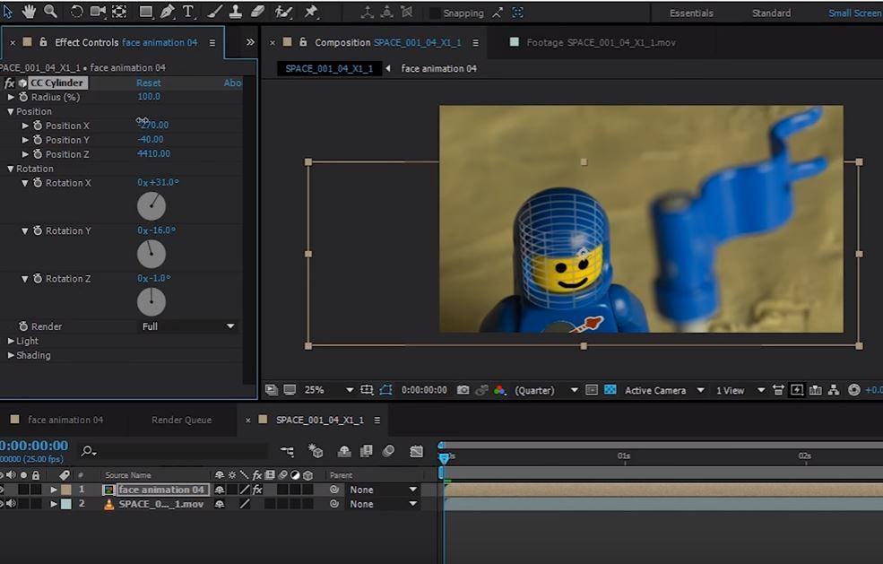 Lego Face анимация с помощью трекинга в After Effects