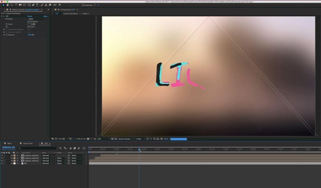 Создание жидкой анимации текста в АЕ