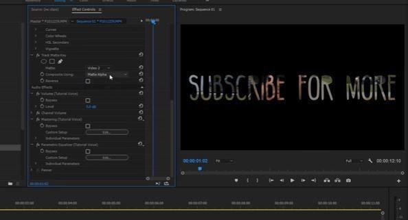 Матте видео через маску с текстом
