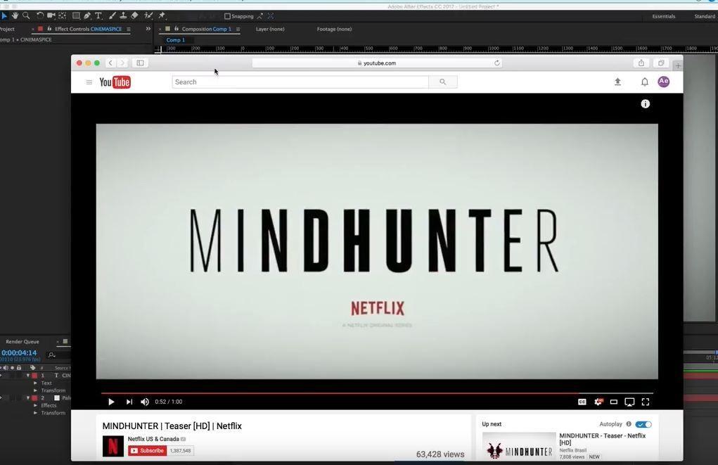 Титры в стиле Mindhunter в АЕ