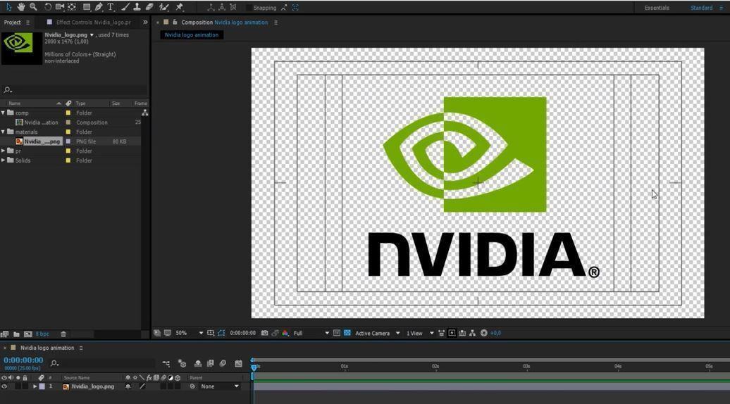Простая анимация логотипа в After Effects