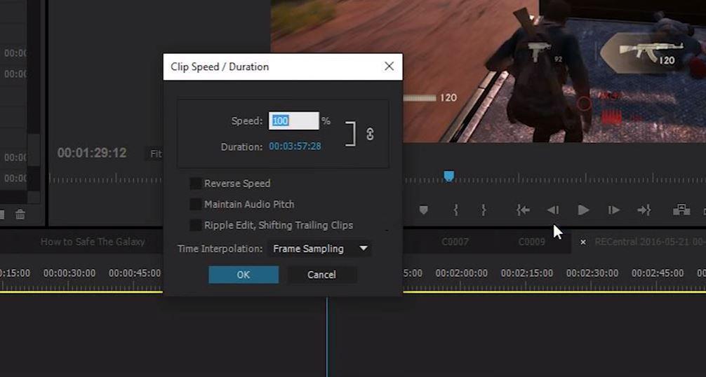 Замедление в Premiere без плагинов
