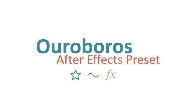 Uroboros бесплатный пресет для АЕ