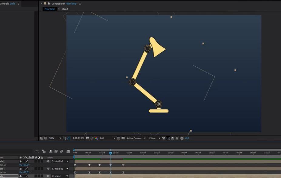 Parent tool анимация с помощью перекладки