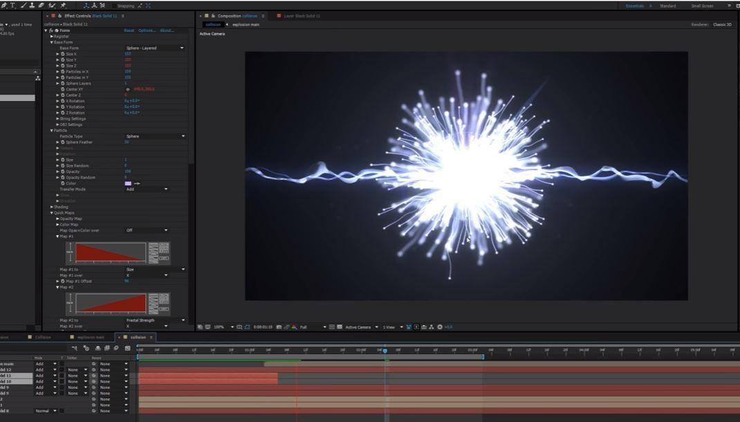 Взрыв частиц с помощью Trapcode Particular+Form
