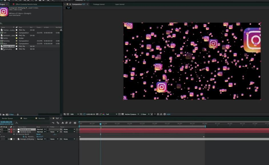 Particle World в After Effects