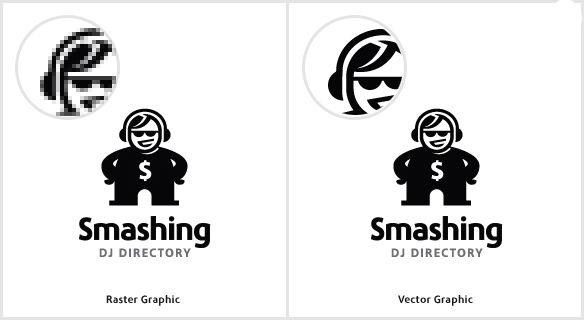 Разница между растровой графики и векторной графики