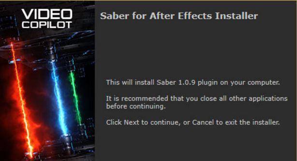 Saber плагин для After Effects