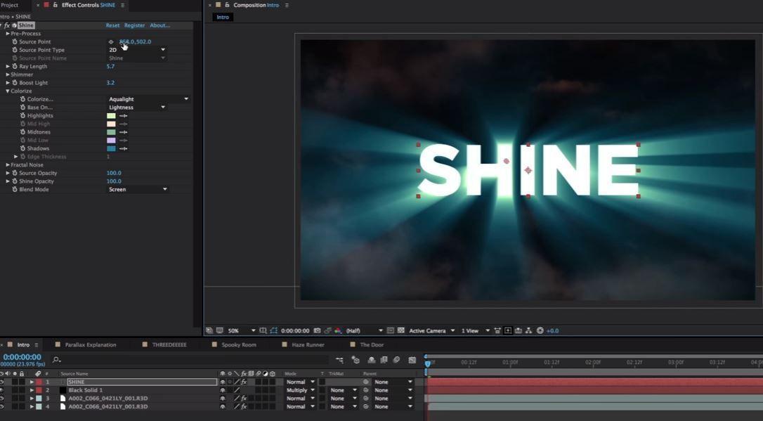 Базовый урок о Trapcode Shine 2