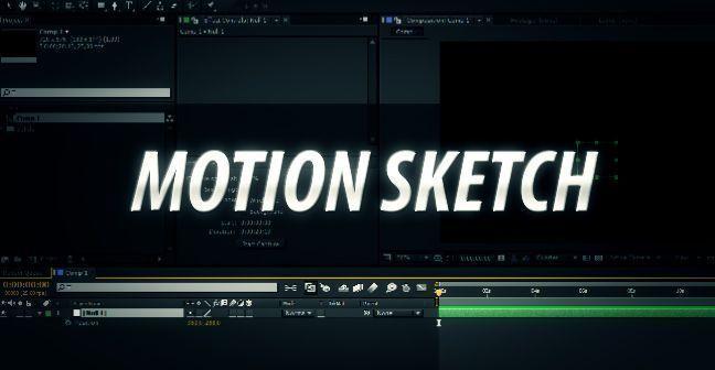 Motion Sketch в АЕ