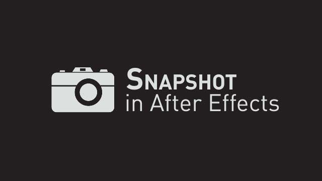 Snapshot в Adobe After Effects