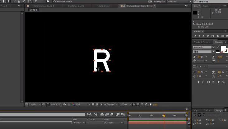 Строк эффект для появления текста в After Effects