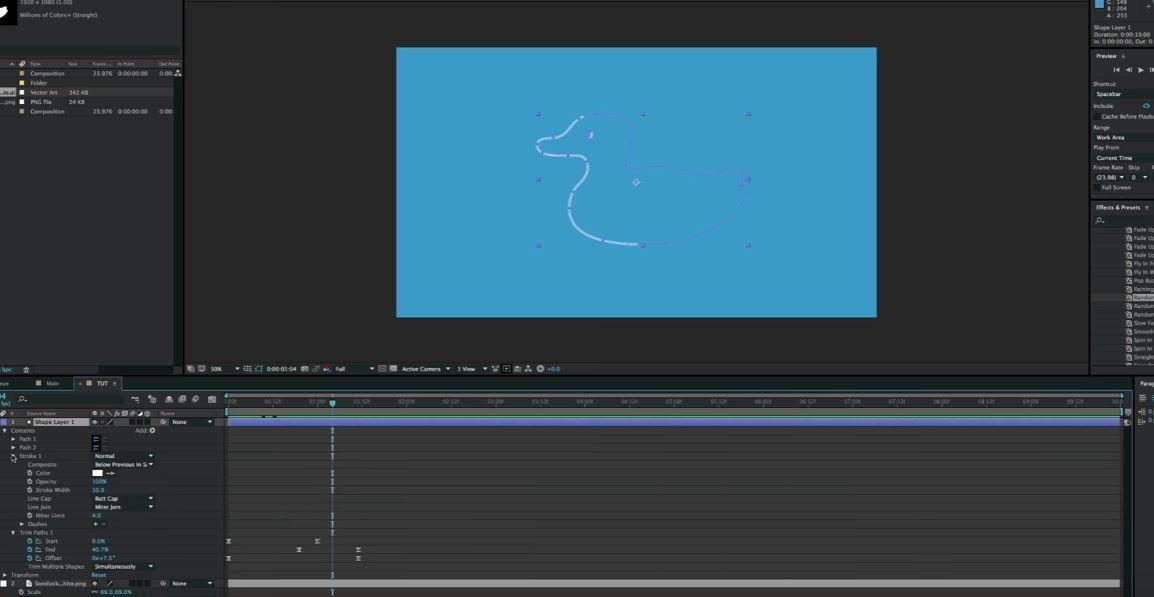 Строк анимация в АЕ
