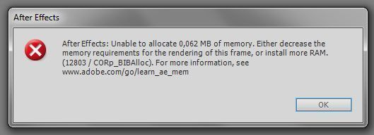 Unable to allocate ....MB of memory