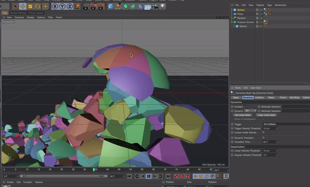 Новая фича! Voronoi Fracture в Cinema 4D R18