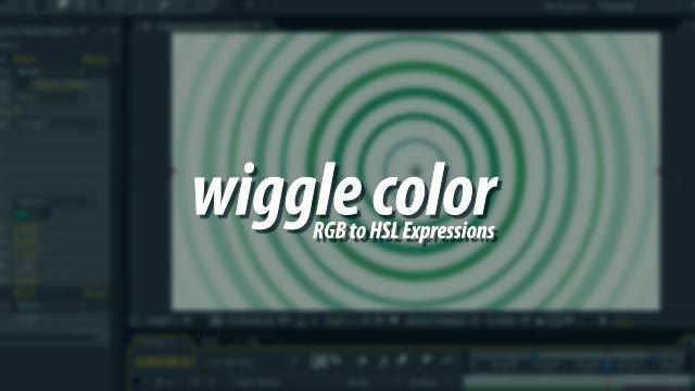 Правильный wiggle к цвету в АЕ