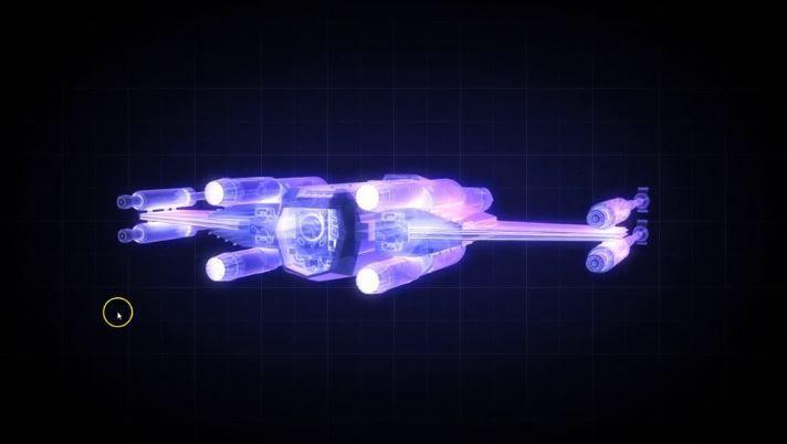 X-wing голограмма с помощью C4D+AE