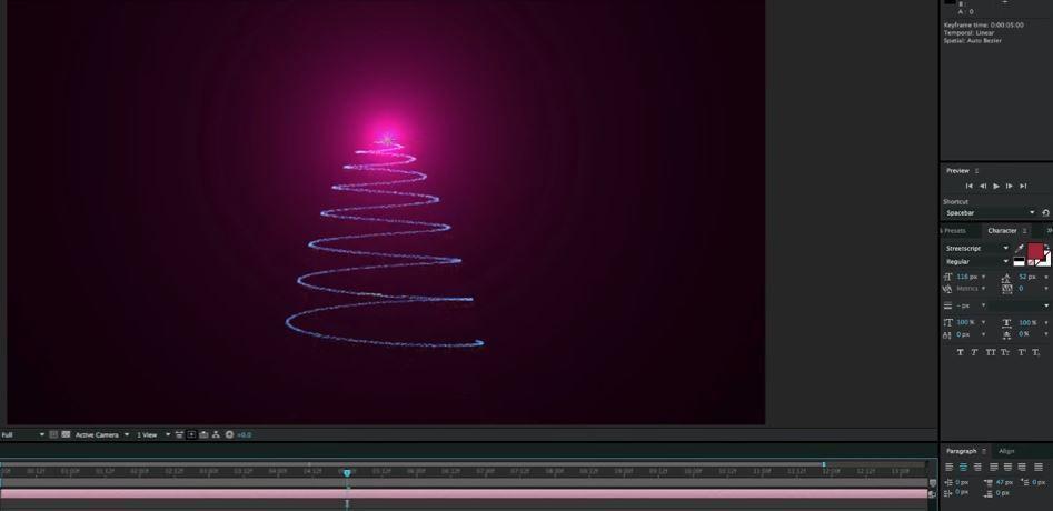 Christmas Tree с помощью АЕ
