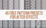45 бесплатных паттернов в After Effects